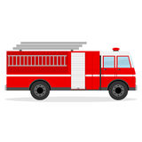 Fire engine. Flat design, vector illustration, vector Royalty Free Stock Image