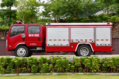 Fire engine. The forest fire engine in China royalty free stock image