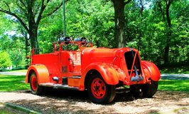 Fire Engine. A Franklin County fire engine retired to the city park amusement Royalty Free Stock Photos
