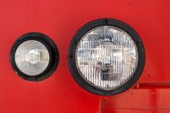 Fire Engine Headlight Stock Image
