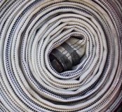 Fire engine hose Royalty Free Stock Image