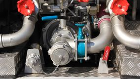 Fire engine hydraulic system stock footage