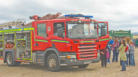 Fire Engine at Inverness Boat Festival. Stock Photo