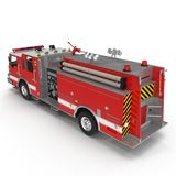 Fire Engine isolated on white. 3D illustration. Fire Engine isolated on white background. 3D illustration Royalty Free Stock Photos