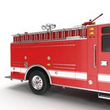 Fire Engine isolated on white. 3D illustration Stock Photography
