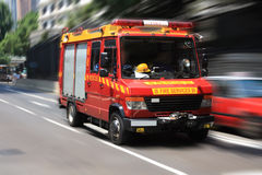 Fire engine with motion blur Stock Photo