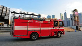 Fire engine at NDP 2011 Stock Photography