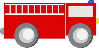 Fire Engine Red Cartoon Truck Royalty Free Stock Photography