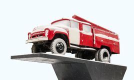 Fire-engine retro USSR. Fire-engine retro Soviet car royalty free stock images
