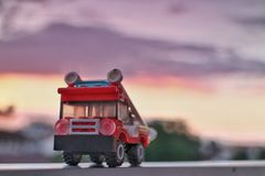 Fire Engine sunset:-& x29; royalty free stock photo
