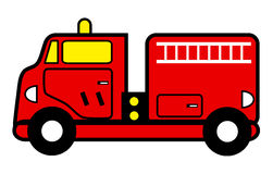 Fire engine toy. Cartoon vector illustration of a fire engine toy Stock Photo