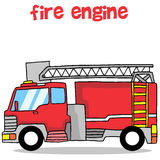 Fire engine transportation collection design. Vector illustration Royalty Free Stock Images