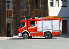 Fire engine truck during a mission Stock Photos