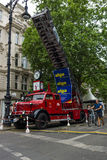Fire engine with turntable ladder Krupp Tiger, 1956 Stock Photo