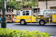 Fire engine on urgent business Royalty Free Stock Photos
