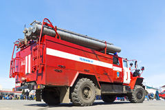 Fire-engine vehicle of EMERCOM Royalty Free Stock Images