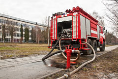Fire-engine vehicle Royalty Free Stock Image