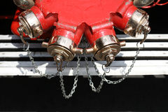 Fire engine water pumps stock photos