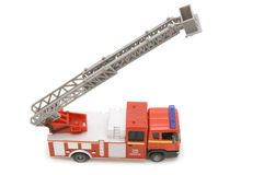 Fire engine on white Royalty Free Stock Photography