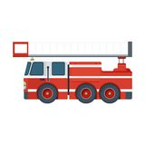 Fire engine on white Stock Image