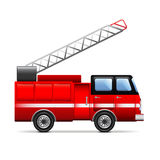 Fire engine  on white vector Royalty Free Stock Photography