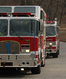 Fire Engines. Two fire engines on a road Stock Photography