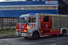 Fire engines arrived at the fire Royalty Free Stock Image