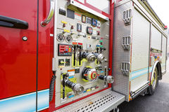 Fire engines equipment close shot Royalty Free Stock Images