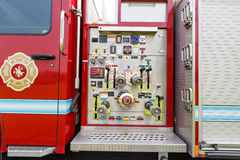 Fire engines equipment close shot Stock Photography