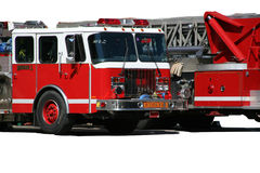 Fire engines, isolated Royalty Free Stock Photo