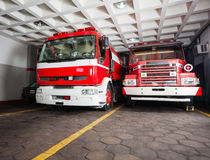 Fire Engines In Station Royalty Free Stock Photos