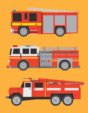 Fire engines. Vector international fire engines on  background Royalty Free Stock Photography