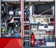 The fire equipment of MAN Ziegler Z6 (Airport crash tender). Stock Images
