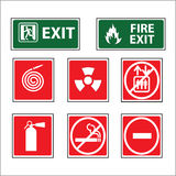 Fire equipment signs vector Stock Photo