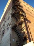 Fire escape. An old city building with a fire escape Stock Photos