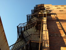 Fire escape. Up the back fire escape of an old building Stock Photography