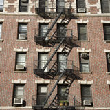Fire escape. Leading down the side of an old building Stock Photo