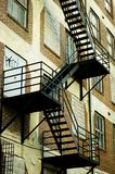 Fire escape. On the side of an urban building royalty free stock image