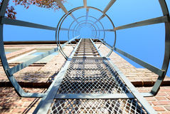 Fire Escape. A fire escape with a safety ring Stock Images