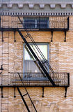 Fire escape. On an old brick building Stock Images