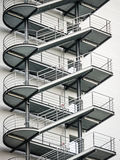 Fire escape. At an office building - rome Royalty Free Stock Image
