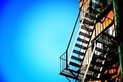 Fire Escape. On apartment building Stock Images