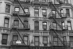 Fire escape in black and withe Royalty Free Stock Images