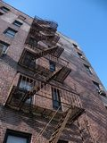 Fire Escape and Brick Building royalty free stock images