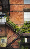 Fire escape brick facade Royalty Free Stock Photos