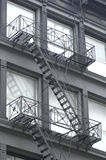 Fire Escape on building. In New York Royalty Free Stock Image