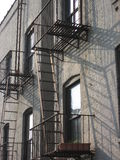 Fire escape in New York City Royalty Free Stock Photography