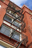 Fire escape on building in Washington DC, USA Royalty Free Stock Image
