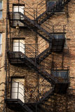 Fire escape. Royalty Free Stock Photography