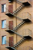 Fire escape on the facade of the building Royalty Free Stock Image